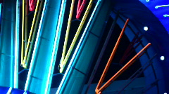 Night neon light casino Stock Footage