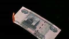 Fire rubles Stock Footage