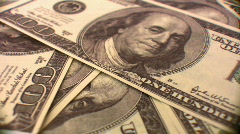 Dollar background rotating Stock Footage