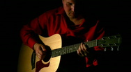 Play on guitar in dark. Face Stock Footage