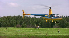 Competitions on helicopter sports Stock Footage