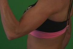 Muscular Female Biceps 5 Stock Footage