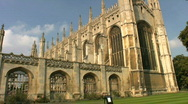 Stock Video Footage of Kings College Chapel Cambridge England UK