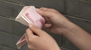 Stock Video Footage of Counting Chinese Money 2 (fast forward)
