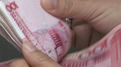 Counting Chinese Money 3 - stock footage