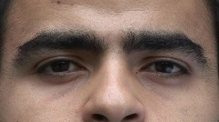 Arab Male Face. close-up Stock Footage