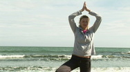Stock Video Footage of Woman Practicing Yoga