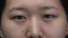 Chinese Female Face, close-up - stock footage