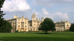 St Johns College Cambridge England UK Stock Footage
