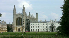 Kings College Chapel Cambridge England UK Stock Footage