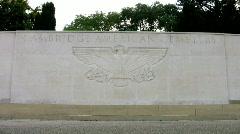 Cambridge American Military Cemetery Madingley Cambridgeshire England UK Stock Footage