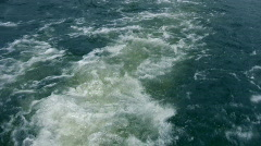 Ship water trace Stock Footage