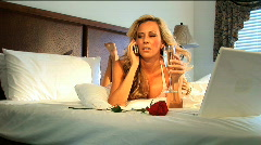 Woman on the phone Stock Footage