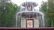 Fountain. Peterhof. Petersburg. Stock Footage