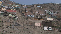Stock Video Footage of Peru: Poor housing in a slum near Lima