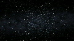 Flying Through a Starfield, Spinning (30fps) Stock Footage