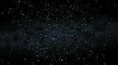 Flying Through a Starfield, Spinning (24fps) Stock Footage