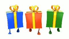 Walking Gifts loop Stock Footage
