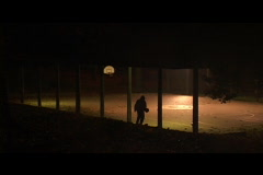 Basketball shooting at night Stock Footage