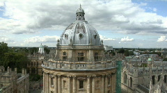 Oxford aerial view Stock Footage