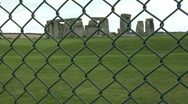 Stonehenge behind a fence Stock Footage