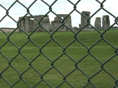 Stock Video Footage of Stonehenge behind a fence