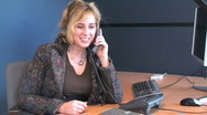 Stock Video Footage of Business Woman Talking on the Phone