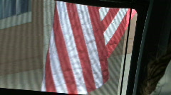 Stripes Of The American Flag 1 Stock Footage