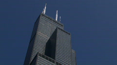 Stock Video Footage of Pull out of Sears Tower