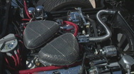 Custom Corvette engine Stock Footage