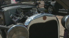 Overview of a classic roadster car. Stock Footage