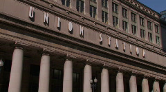 Union Station in Chicago, IL Stock Footage