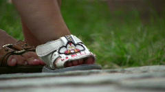 The first steps Stock Footage