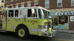 Yellow Fire Engine Stock Footage