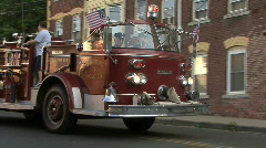 Old Tyme Fire Truck 1 Stock Footage