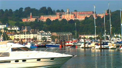 Naval college & boats Stock Footage
