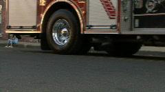 Fire Engine's Wheel Stock Footage