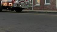 Fire Engine's Wheel Stock Footage