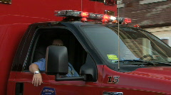Fire Department's Paramedics Stock Footage