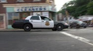 Police Office Yells At Parade Stock Footage