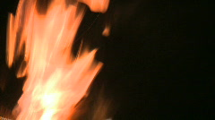 Flames Dance Across the frame Stock Footage