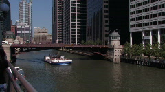 Touring on the Chicago River - stock footage