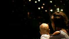 Firework & baby Stock Footage