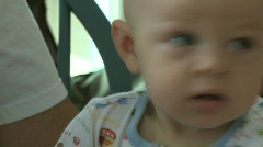 Happy Infant Male 9 month old Stock Footage