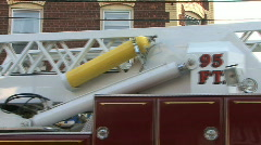 Hook And Ladder Truck Stock Footage