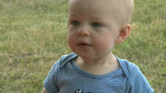 Infant Male 9 month old outside (8 of 12) Stock Footage