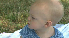 Infant Male 9 month old outside (6 of 12) Stock Footage