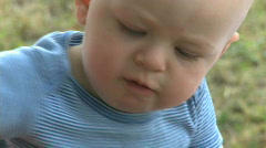 Infant Male 9 month old outside (3 of 12) Stock Footage