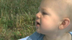 Infant Male 9 month old outside (2 of 12) Stock Footage