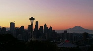 Stock Video Footage of Seattle Sunrise
